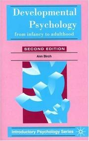 Cover of: Developmental Psychology (Introductory Psychology)