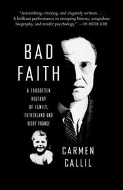 Cover of: Bad Faith