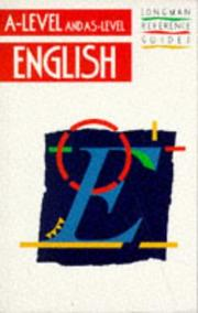 "Cover of: English (""A"" Level Reference Guides)"