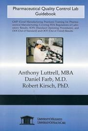 Cover of: Pharmaceutical Quality Control Lab Guidebook