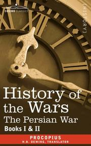 Cover of: HISTORY OF THE WARS