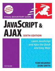 Cover of: JavaScript and Ajax for the Web, Sixth Edition (Visual QuickStart Guide)