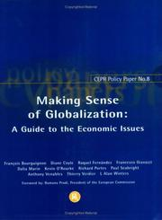 Cover of: Making Sense of Globalization (CEPR Policy Paper)