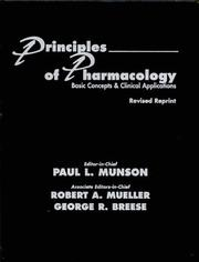 Cover of: Principles of Pharmacology