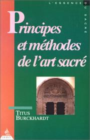 Cover of: Principes et méthodes de l'art sacré