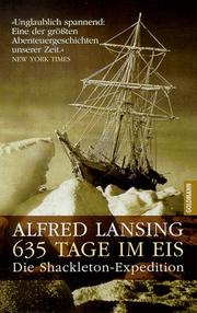 Cover of: 635 Tage im Eis. Die Shackleton- Expedition.