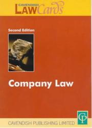 Cover of: Company Law (Lawcards)