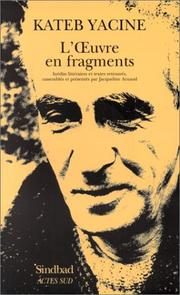 Cover of: L'œuvre en fragments