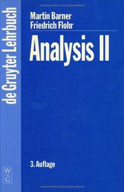 Cover of: Analysis II