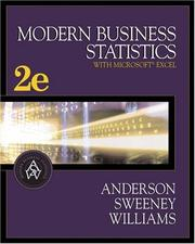 Cover of: Modern Business Statistics (with CD-ROM and InfoTrac )