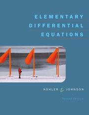 Cover of: Elementary Differential Equations (2nd Edition)