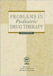 Cover of: Problems in Pediatric Drug Therapy