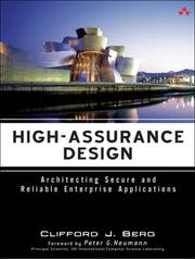 Cover of: High-Assurance Design