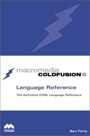 Cover of: Macromedia Coldfusion 5 Language Reference