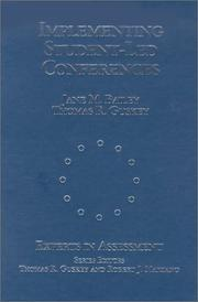 Cover of: Implementing Student-Led Conferences (Experts In Assessment Series)