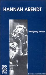 Cover of: Hannah Arendt