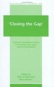 Cover of: 'closing The Gap'.