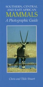 Cover of: Southern, Central and East African Mammals