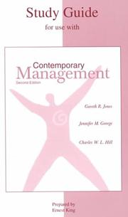 Cover of: Student Study Guide to accompany Contemporary Management