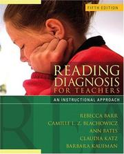 Cover of: Reading Diagnosis  for Teachers