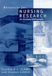 Cover of: Resources for Nursing Research