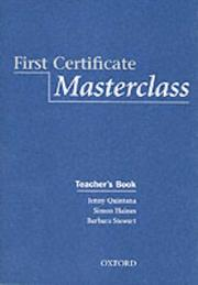 Cover of: First Certificate Masterclass