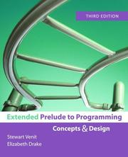 Cover of: Extended Prelude to Programming (3rd Edition)