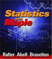 Cover of: Statistics with Maple