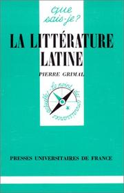 Cover of: La littérature latine