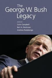 Cover of: The George W. Bush legacy
