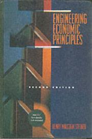 Cover of: Engineering Economic Principles