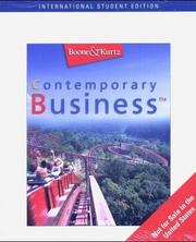 Cover of: Contemporary Business (Ise Version)