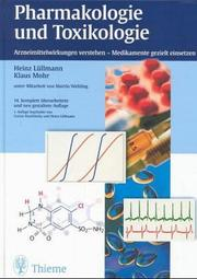 Cover of: Pharmakologie und Toxikologie.