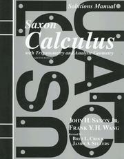 Cover of: Calculus With Trigonometry and Analytic Geometry (Saxon Calculus)