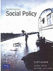Cover of: Introducing Social Policy