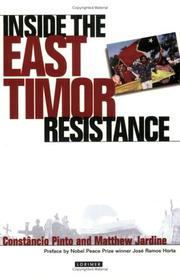 Cover of: Inside the East Timor Resistance