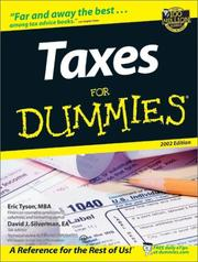 Cover of: Taxes for Dummies 2002