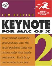 Cover of: Keynote 2 for Mac OS X (Visual QuickStart Guide)