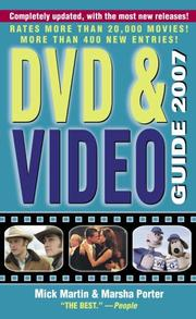 Cover of: DVD & Video Guide 2007