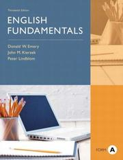 Cover of: English Fundamentals, Form A, 13th Edition