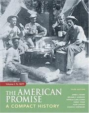 Cover of: The American Promise: A Compact History, Volume I