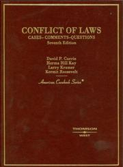 Cover of: Currie, Kay, Kramer and Roosevelt's Conflict of Laws