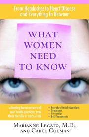 Cover of: What Women Need to Know