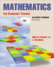 Cover of: Mathematics for Elementary Teachers An Activity Approach with Manipulative Kit (Package Edition)
