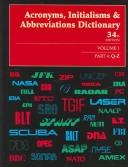 Cover of: Acronyms, Initialisms & Abbreviations Dictionary