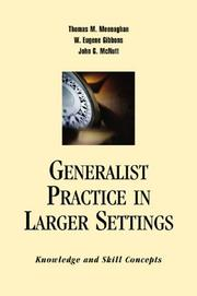Cover of: Generalist Practice In Larger Settings