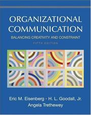 Cover of: Organizational Communication