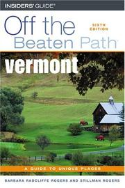 Cover of: Vermont Off the Beaten Path, 6th