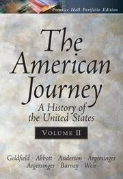 Cover of: The American Journey Portfolio Edition, Vol. II