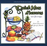 Cover of: Quick Hors D'Oeuvres (One Foot in the Kitchen Cookbooks) (One Foot in the Kitchen Cookbooks) (One Foot in the Kitchen Cookbooks)